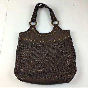 Fossil Vintage Woven Leather Boho Bag